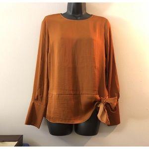 Simply Vera Vera Wang Knot Front Blouse New